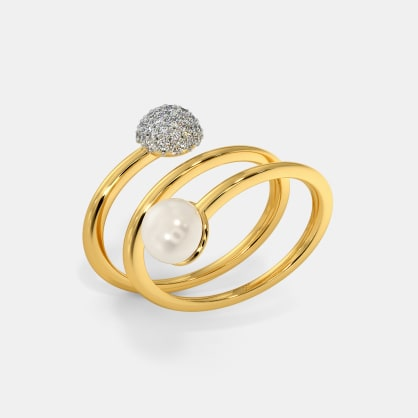 The Pearly Spiral Ring