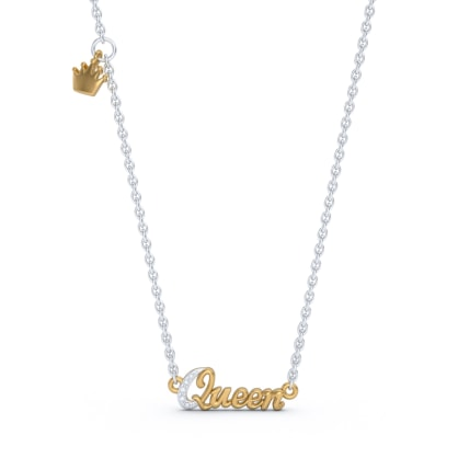 The Queen Script Necklace
