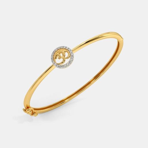 The Om Oval Bangle