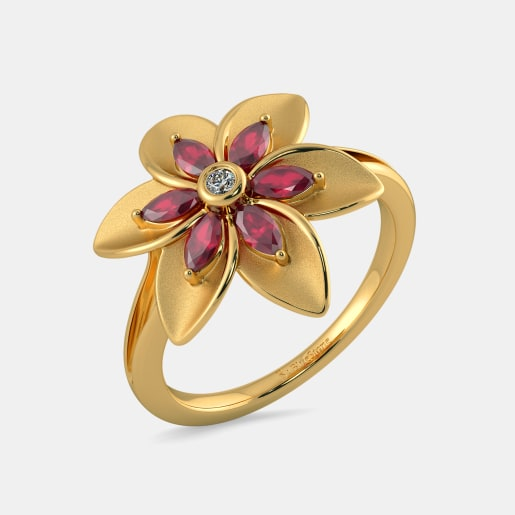 The Arty Floral Ring