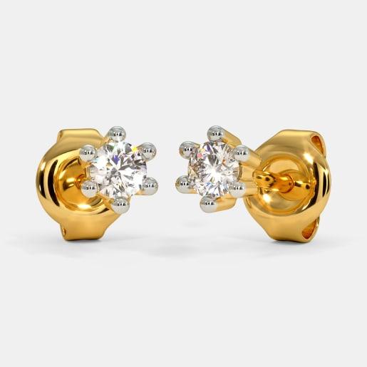 The Ailana Multi Pierced Stud Earrings