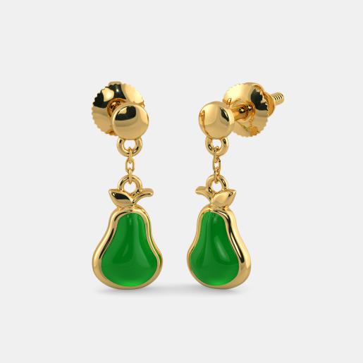 The Juicy Pear Earrings for Kids