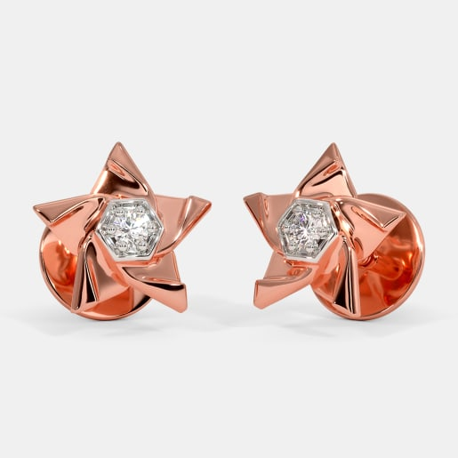 The Pink Star Stud Earrings For Kids
