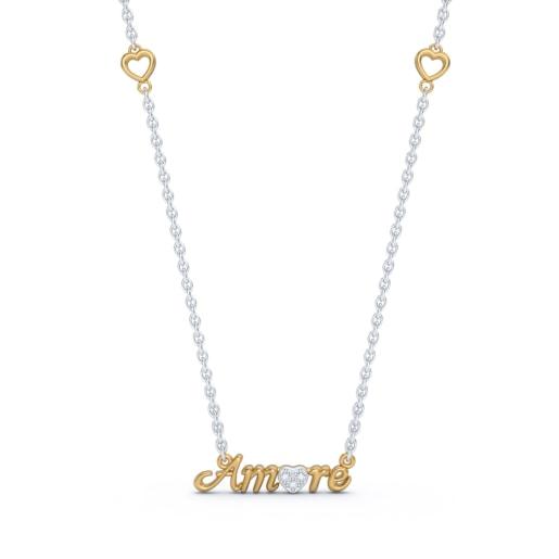 Amore Script Necklace