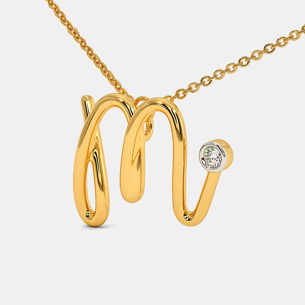 The Cursive M Necklace