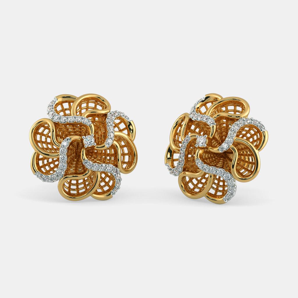 The Rose Lattice Earrings