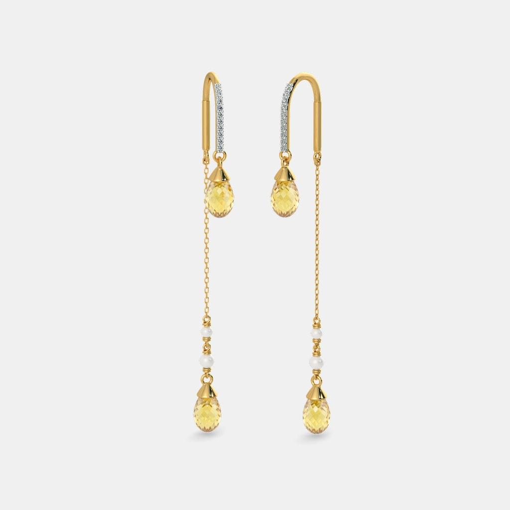 The Blazing Flare Sui Dhaga Earrings