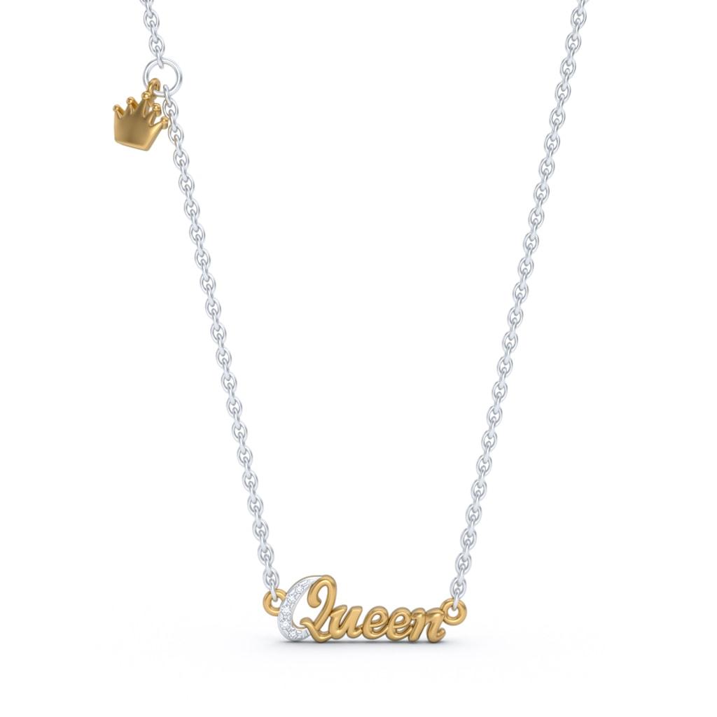 The Queen Script Necklace