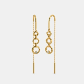 The Sleek Ringlet Sui Dhaga Earrings