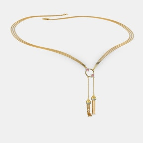 The Twin Tassel Necklace