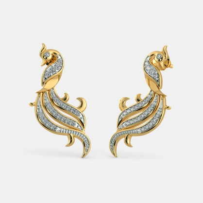 The Twirling Feather Earrings