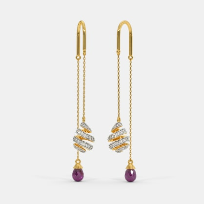 The Whirly Ribbon Sui Dhaga Earrings