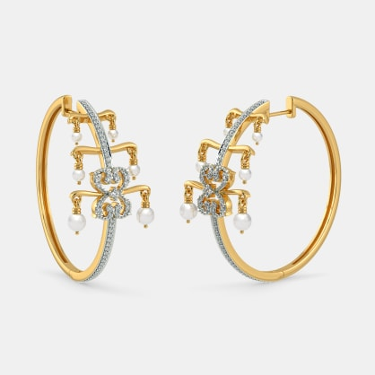 The B Iconic Pearl Adorned Hoop Earrings