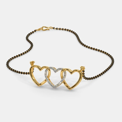 The Triplet Heart Mangalsutra