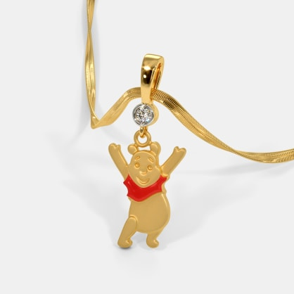 The Red Pooh Pendant For Kids