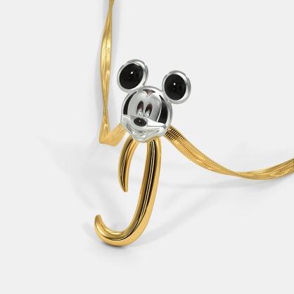 The J For Joyful Mickey Pendant For Kids