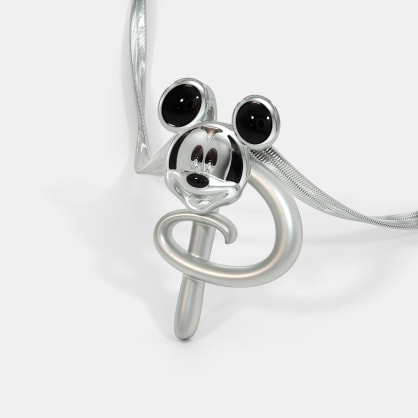 The P For Pablo Mickey Pendant For Kids