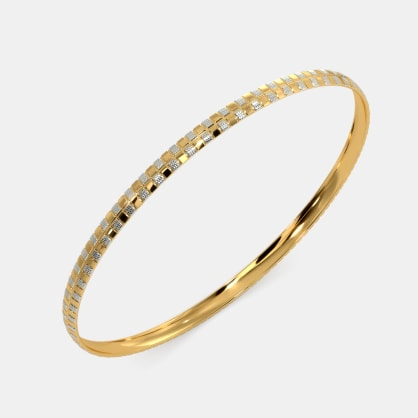 The Flaxen Oblong Bangle