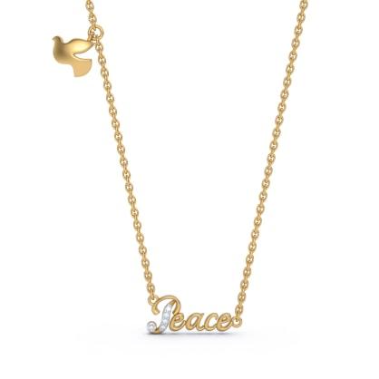 The Peace Script Necklace