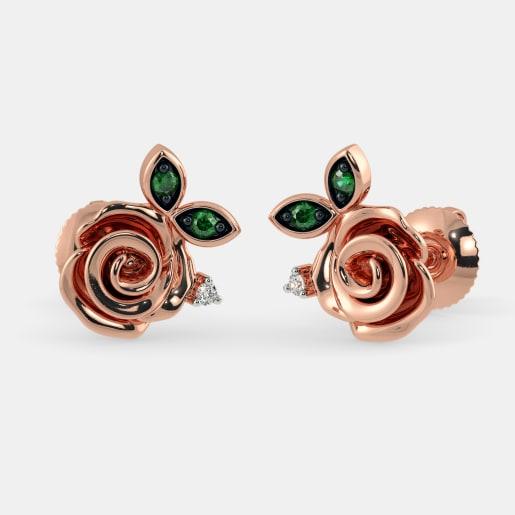 The Claret Stud Earrings