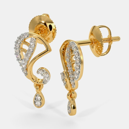 Gold Earrings 2200 Earring Designs Online In India 2018 Bluestone