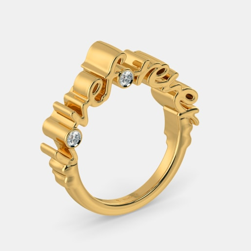 The With Love Scroll Ring
