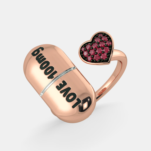The Pill of Love Top Open Ring