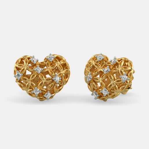 The Scintillating Bloom Stud Earrings