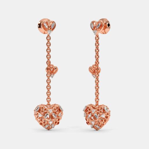 The Rosette Charm Long Drop Earrings