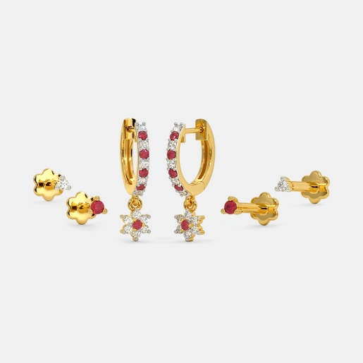 The Tamsin Multi Pierced Huggie Earrings