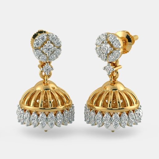3ee4a8b59 Buy 50+ Gold Jhumka Earring Designs Online in India 2019 | BlueStone.com