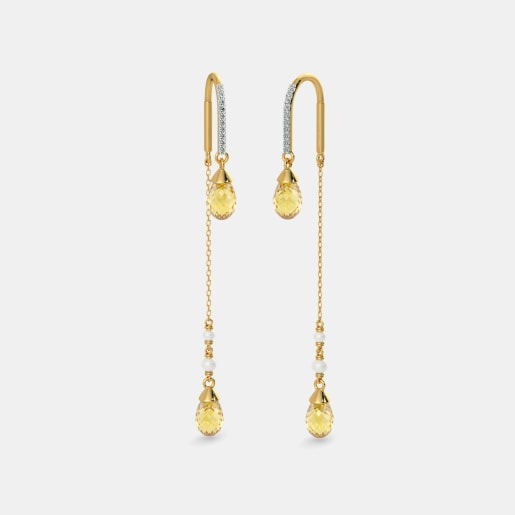 The Blazing Flare Sui Dhaga Earrings