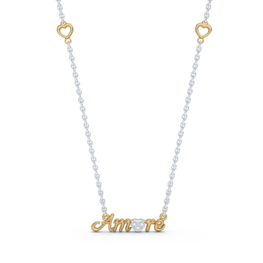Amore Script Necklace