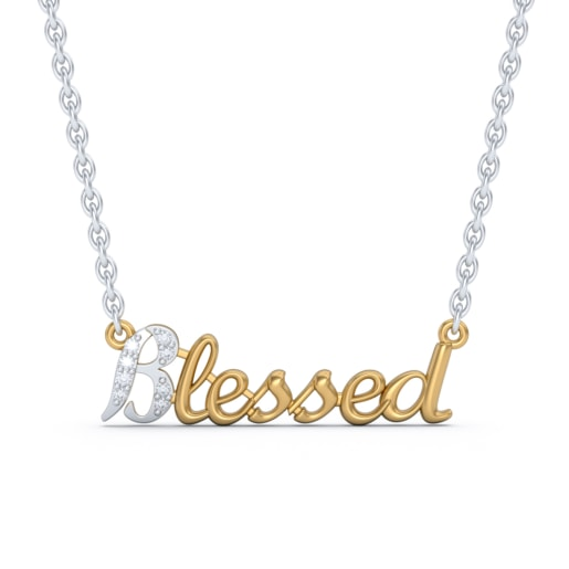 The Blessed Script Necklace